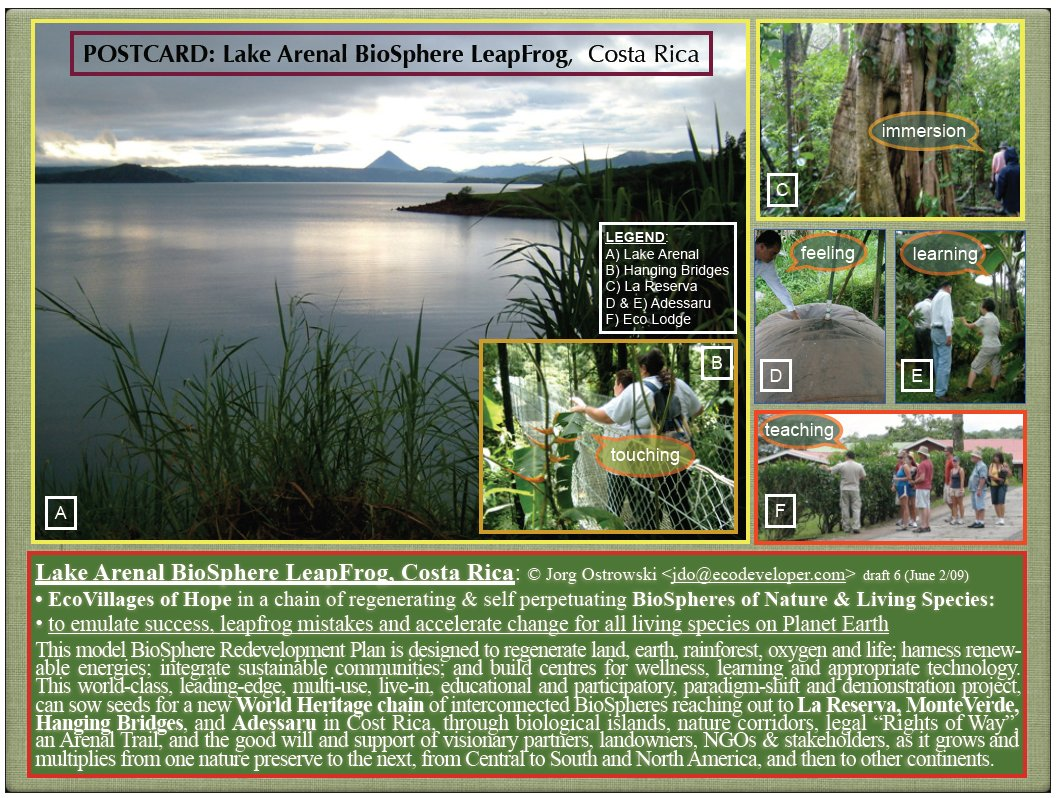 Images from Lake Arenal Costa Rica BioSphere project